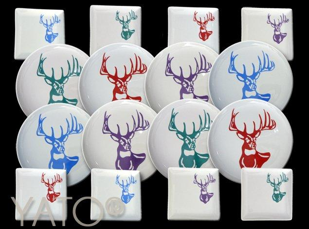 White – Cerf pop art