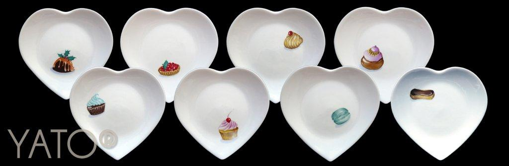 Collection MiniCakes Assiette Coeur 19cm