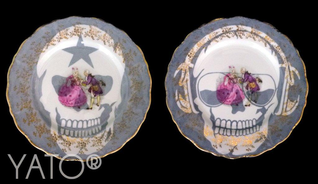 Collection Customs Skulls DJ Assiette Ø18cm