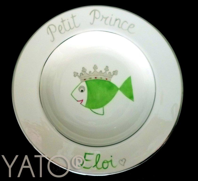 Collection Poisson Prince Assiette Ailes