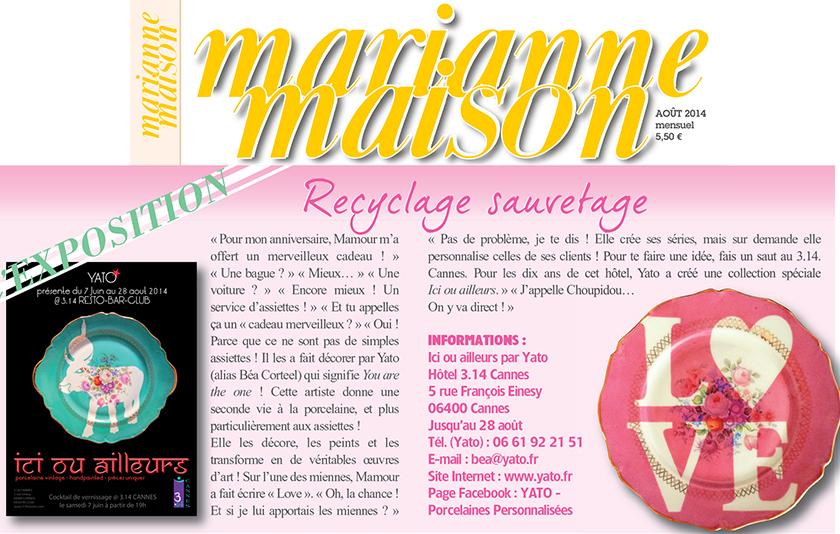 MARIANNE MAISON - Juillet / Août 2014