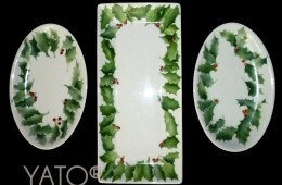 Collection YATO&rsquo;s white CHRISTMAS HOLLY